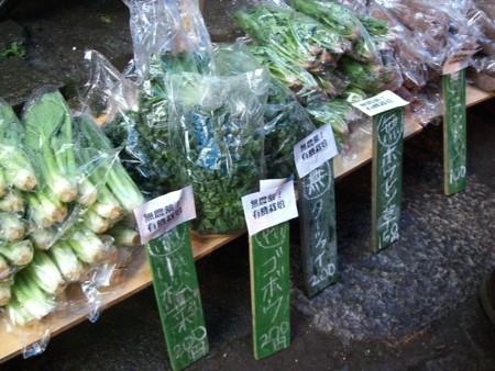東峰べじたぶるんの野菜です